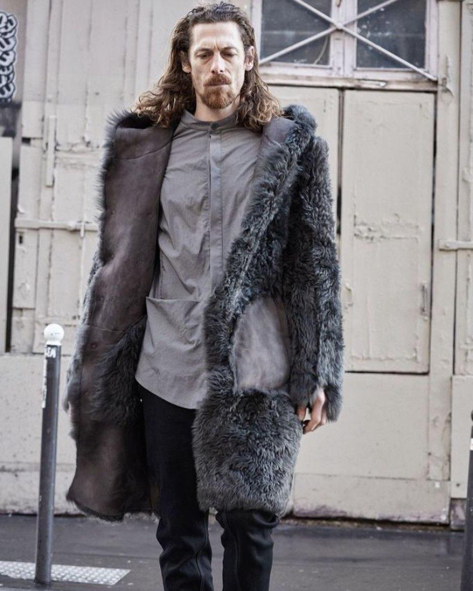 Sheep shearling coat
